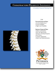 Personal Disability Insurance Brochure - Chiropractors