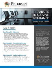 Failure to Survive - Case Studies