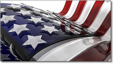 Glass American Flag
