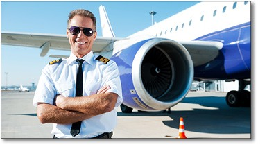 Pilot With Aircraft