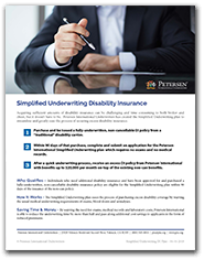 Simplified Underwriting Disability Insurance Flyer